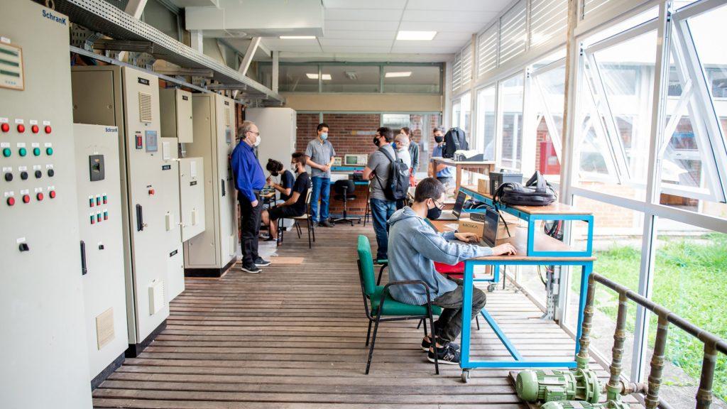 Parte do Laboratório de Geração Distribuída (LabGD) da UFPR, que será inaugurado em dezembro no Centro Politécnico. Foto: Marcos Solivan/Sucom-UFPR